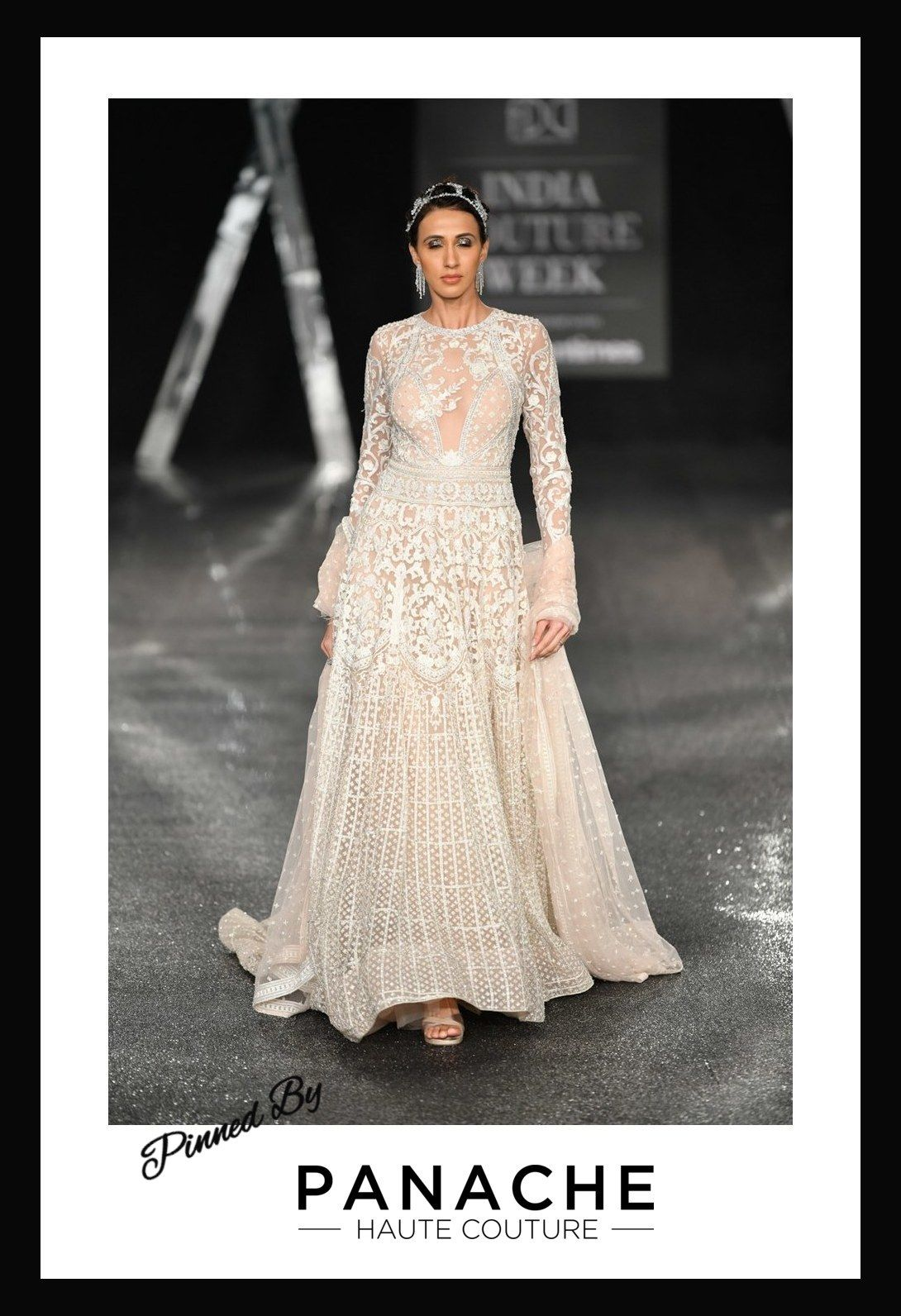 Blush peach color wedding gown directly from india couture