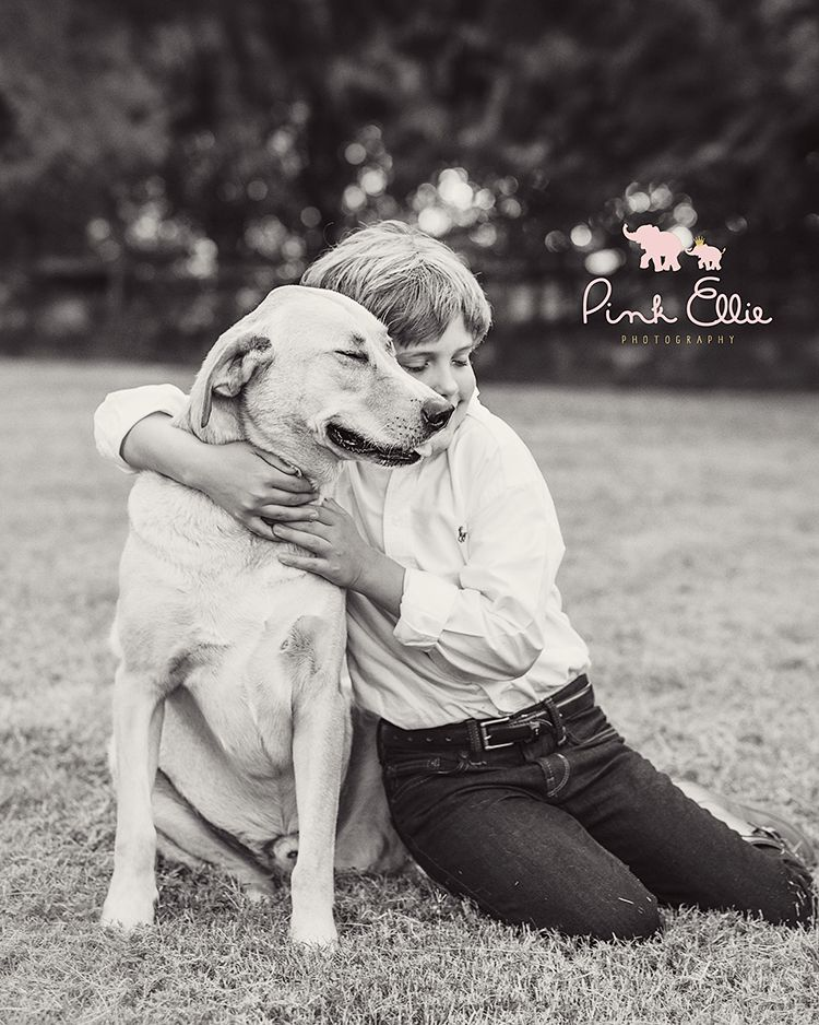A boy and his dog. Pink Ellie Photography ~ Custom Child Photography in Macon, GA