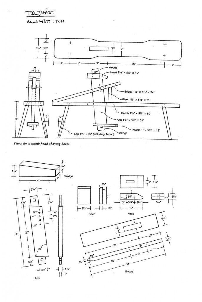 Shavinghorse Drawing Taljhastritning Wooden Ware Tools