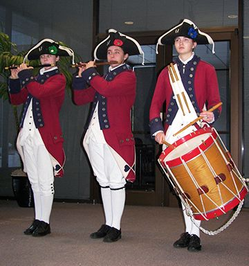 YORKTOWN VICTORY CENTER: Members of the Fifes & Drums of York Town perform during the event. A series of performers will provide 18th-century musical entertainment during the last week (Dec 26-31) of the event.