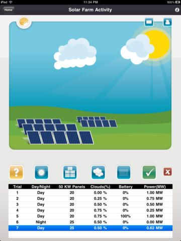 iPad App Clean Energy Hawaii STEM Education Reference **** 4 - spreadsheet app free ipad