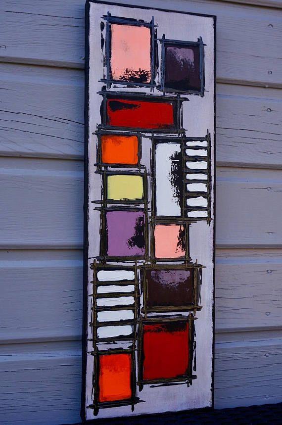 peinture abstraite g om trique contemporaine color e peintures pinterest peintures. Black Bedroom Furniture Sets. Home Design Ideas