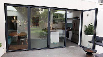 Bi Folding Sliding Patio Doors Aluminium Up To 13ft Wide 4 Panel £2995