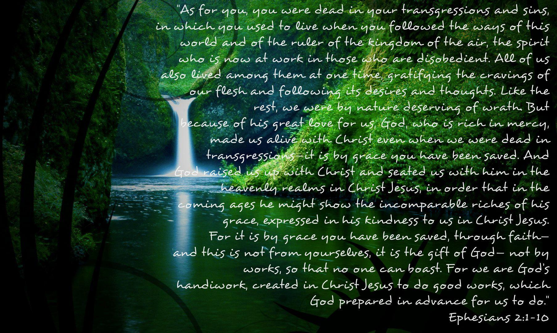 Picture Quote On Ephesianns 210 Niv: Ephesians 2:1-10