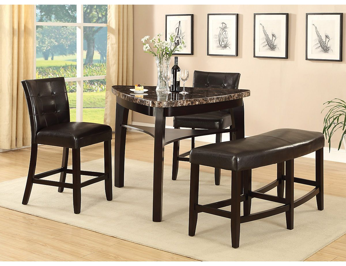Cypress 4 Piece Counter Height Pub Style Dining Package Cyprespk4 The Brick Dining Room Table Furniture Table