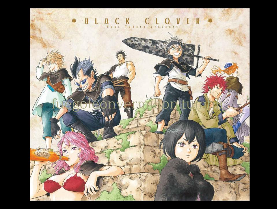 Black Clover poster Black ♣ Clover (ブラッククローバー