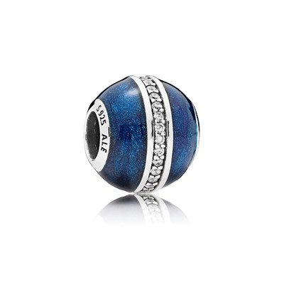 Charm Orbite Bleu Nuit - 796377EN63 | Charms pandora, Bijoux ...