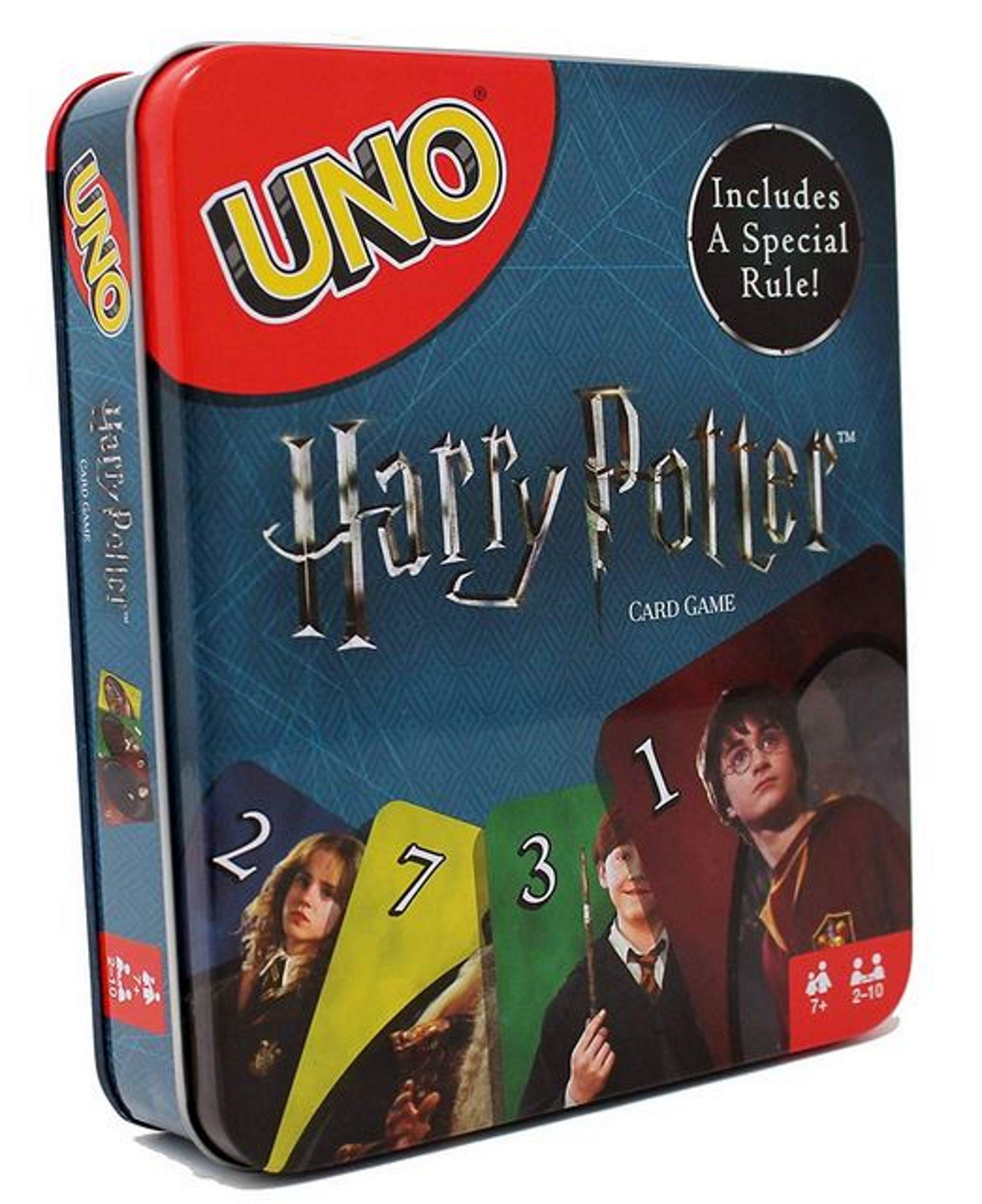 Mattel Games Uno Harry Potter Tin Walmart Com Harry Potter Card Game Harry Potter Cards Card Games