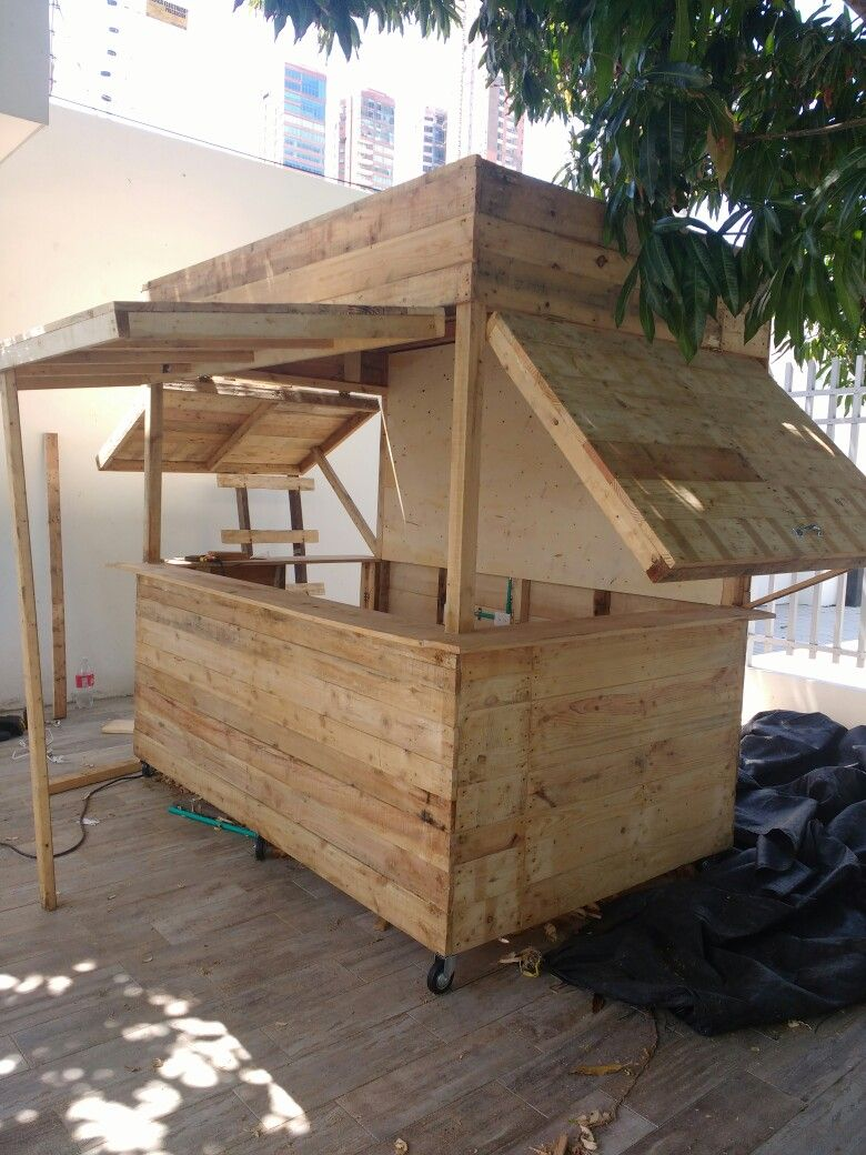 Mobil bar | Cabin in 2019 | Food kiosk, Kiosk design, Mobile food cart