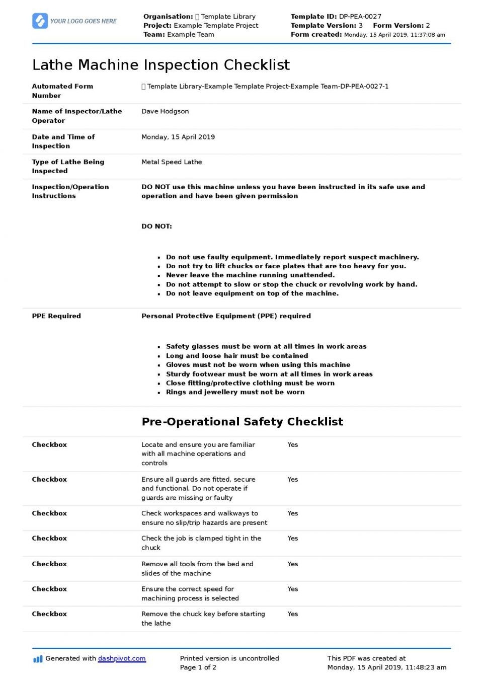 Inspection Spreadsheet Template Great Machine Shop Report With Machine Shop Inspection Report Template Best Spreadsheet Template Machine Shop Report Template