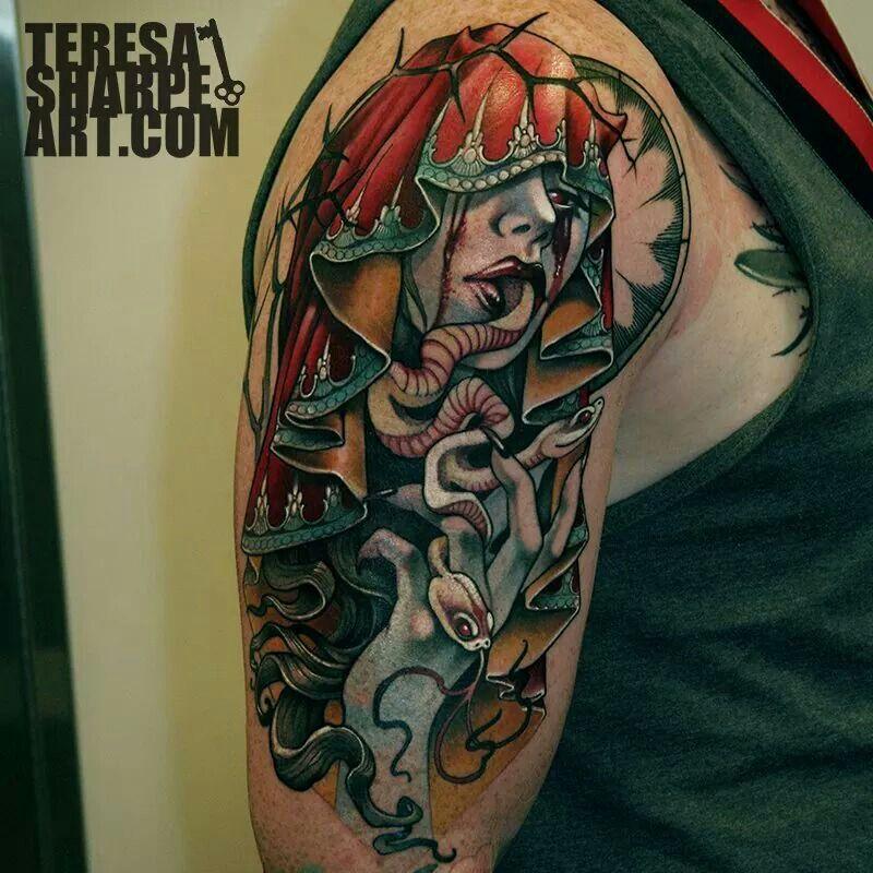 Photo of Teresa Sharpe Lady serpent tattoo