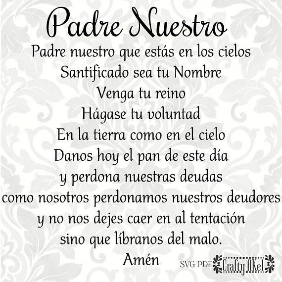 How to say our father prayer in spanish