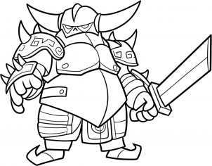 How To Draw Pekka From Clash Of Clans Step 14 Clash Of Clans All