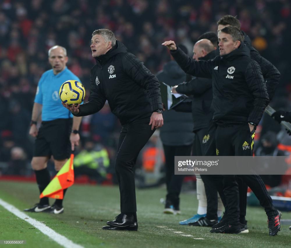 Manager Ole Gunnar Solskjaer Of Manchester United Watches From The In 2020 Ole Gunnar Solskjaer Manchester United Watch Manchester United