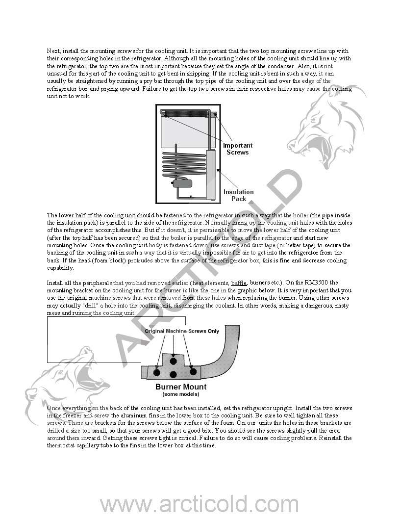 Page 4 Type 3 Install Instructions For Dometic One Door Model