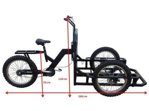 Italian Tricycle Cargo Bike Attila Heavy Duty With Lowered