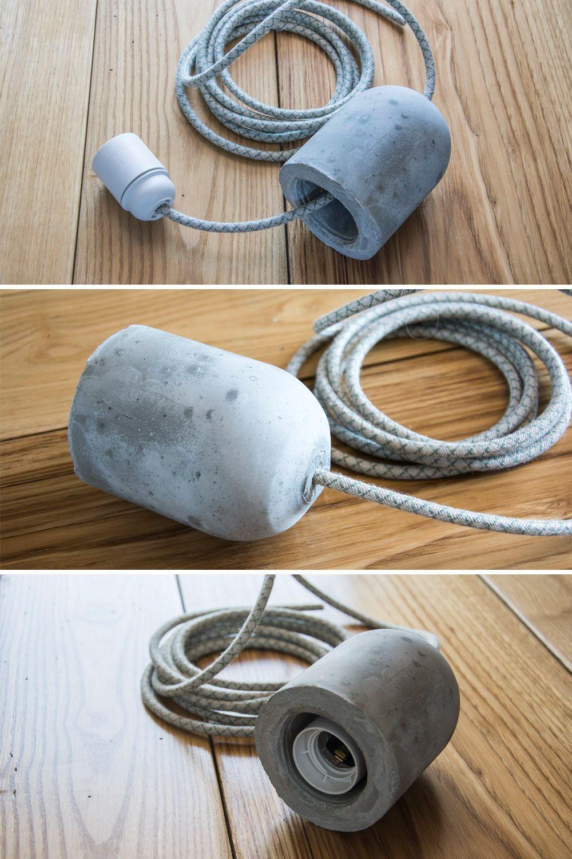 douille en b ton cache douille ciment pour lampe par amanodesignit diy concrete pinterest. Black Bedroom Furniture Sets. Home Design Ideas
