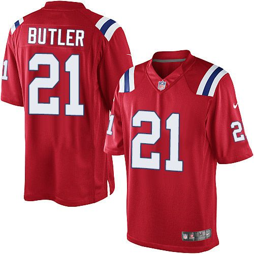 96b023091 Nike Limited Malcolm Butler Red Men s Jersey - New England Patriots  21 NFL  Alternate