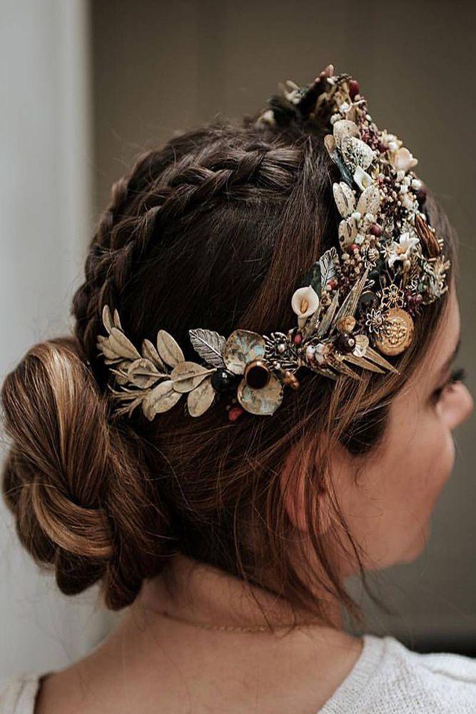 24 Amazing Colourful Wedding Dresses For Non-Traditional Bride | Elegant wedding hair, Medium ...