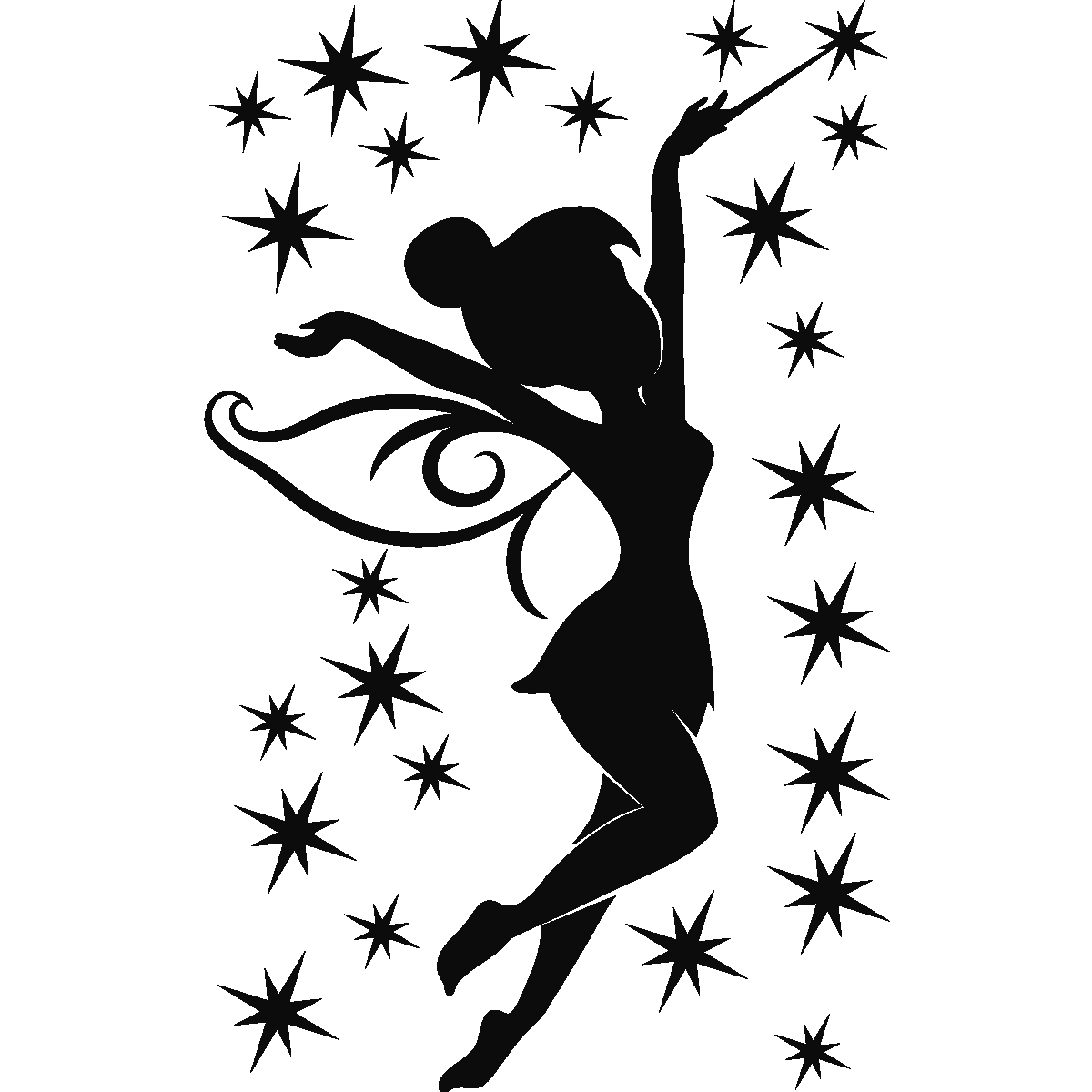 Silhouette think for Tinkerbell stencil