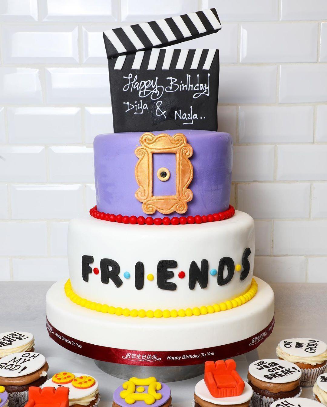 2020 的 48 Super Tv Shows Birthday Friend Cake Ideas 主题