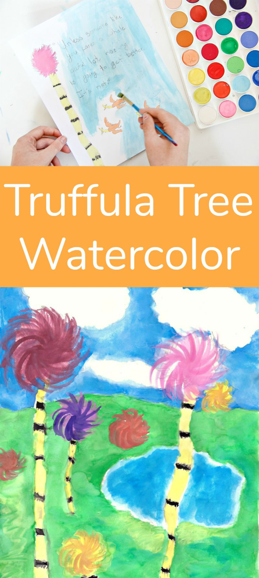 Truffula Tree Watercolor Art To Celebrate Earth Day Kids