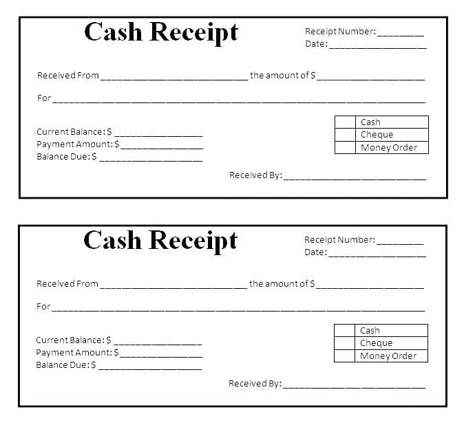Template For Receipts For Cash Payments Loan Payment Receipt