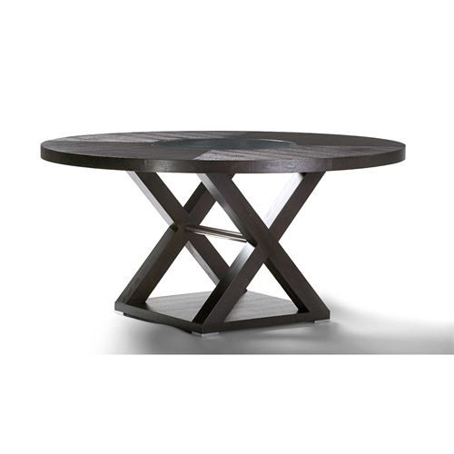 Allan Copley Designs 3410 04 Halifax 60 Round Wood Top Dining Table In Espresso