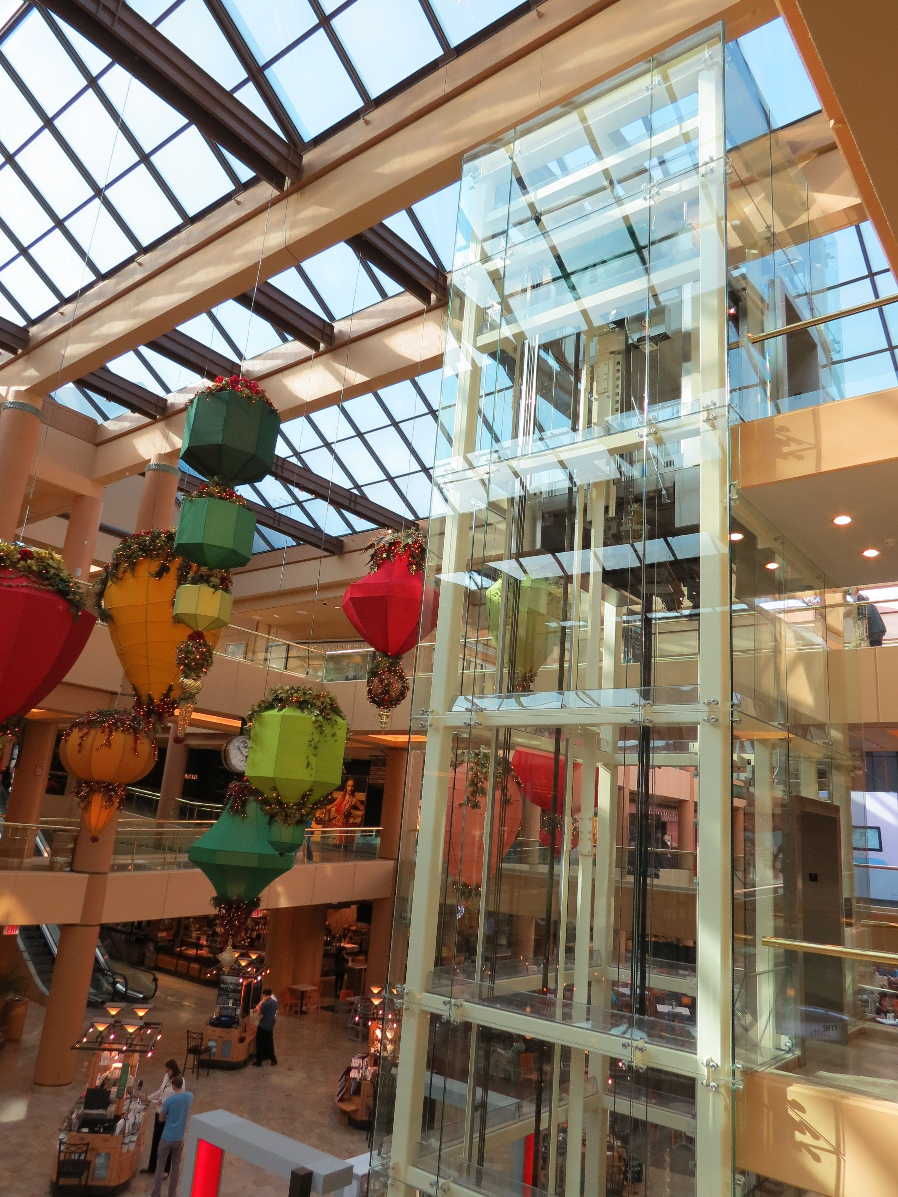 Fashion Square Mall >> Another View Of The Glass Elevator At Scottsdale Fashion Square Mall