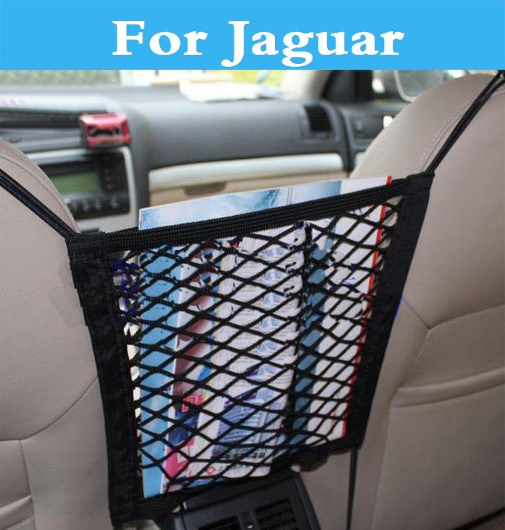 Car organizer Seat Back Storage Mesh Net Bag Luggage Holder Pocket for Jaguar F-Pace F-Type S-Type XE XF XFR XJ XJR XK XKR XType