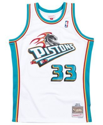 detailed pictures ca259 ca113 Mitchell & Ness Men Grant Hill Detroit Pistons Hardwood ...