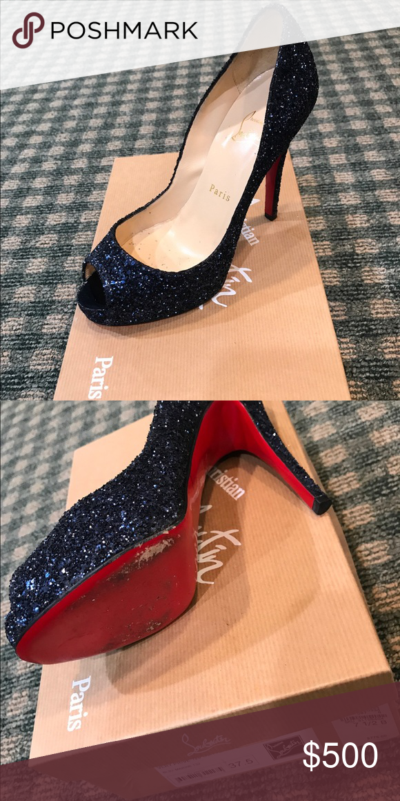 new product ac34d 2dbef Navy sparkly louboutins. Worn once Worn once Christian ...
