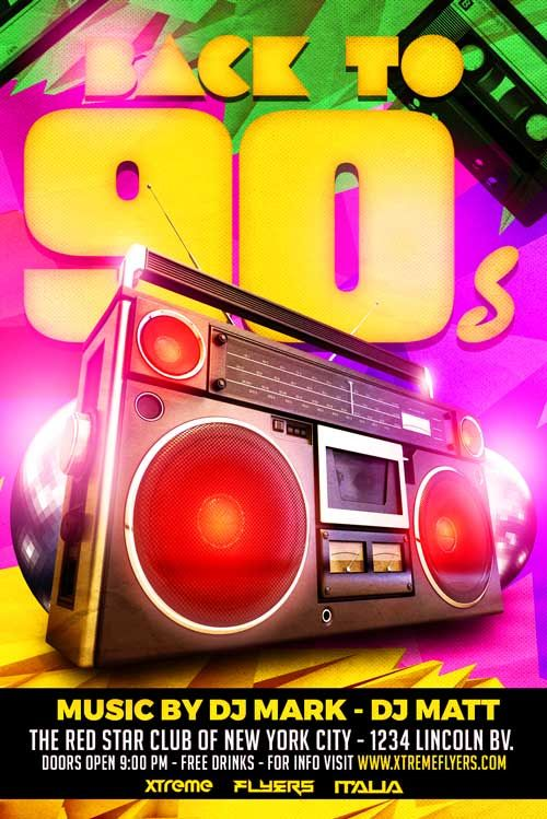 a7f7ef55a803d Pin by Brian Perry Ptk on DJ flyer | Party flyer, 90s party, Flyer ...