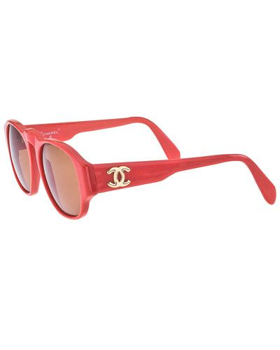 cab978bbef6 Chanel Rare Red Sunglasses with Gold CC