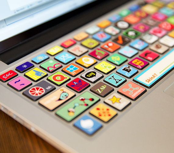 Macbook keyboard sticker individual keys decal for by mixeddecal