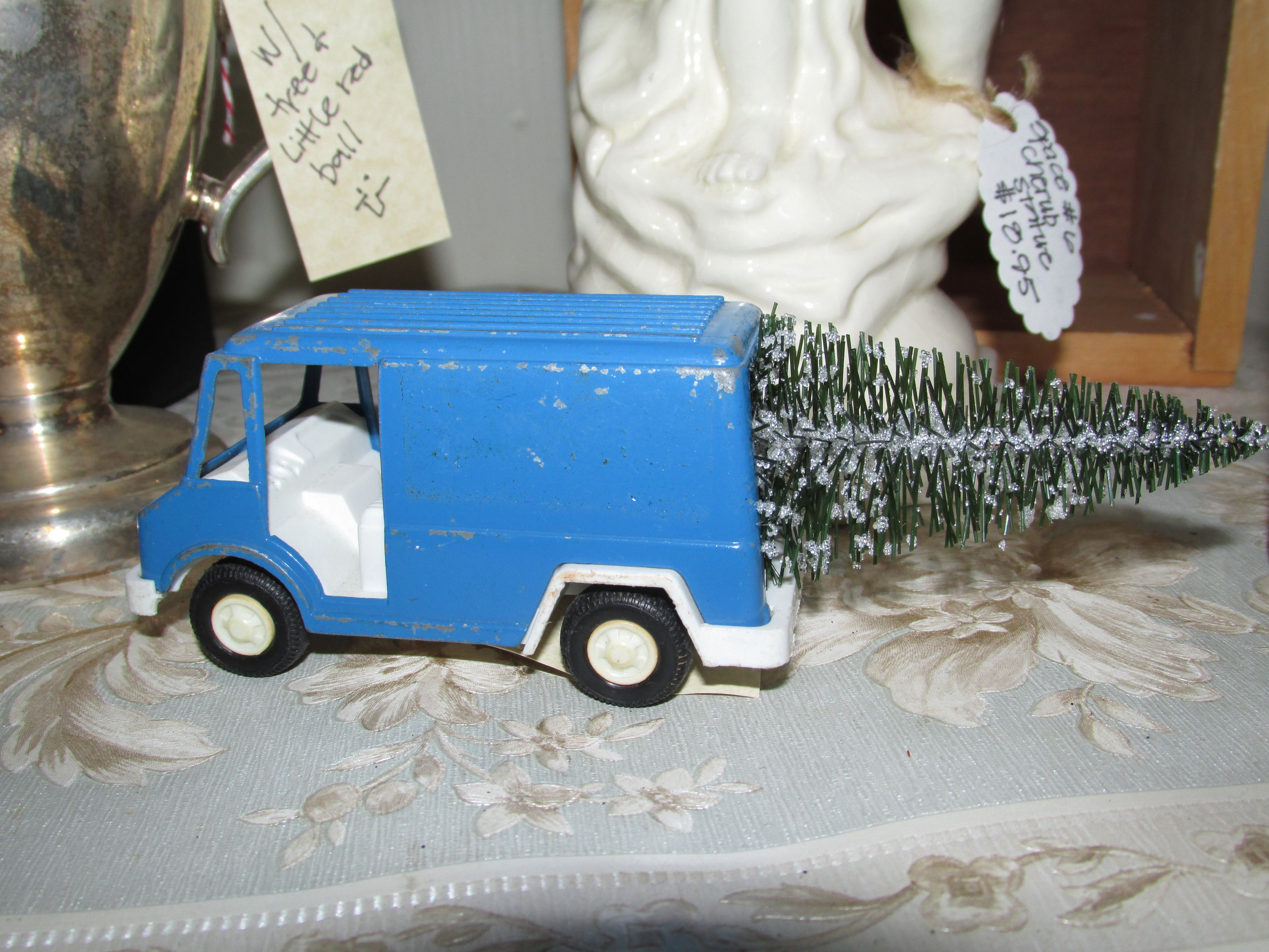A tootsie truck and a tree...happy christmas...