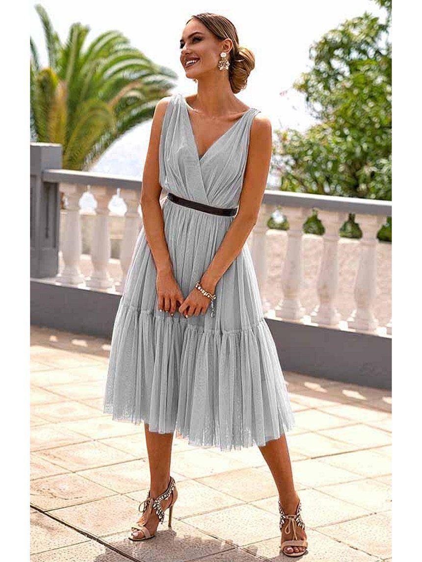 Sukienka Tiulowa Zoe Szara A320 Szary Nowosci Odziez Sukienki Sukienki Koktajlowe Odziez Sukienki Dlugie Suknie Dresses Fashion One Shoulder Dress