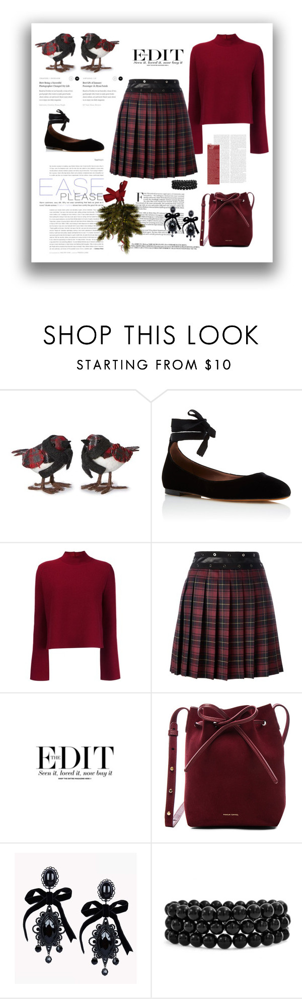 """Plaid Holiday"" by terry-tlc ❤ liked on Polyvore featuring Home Decorators Collection, Tabitha Simmons, Proenza Schouler, Giamba, Bohemia, Mansur Gavriel, Dsquared2, Bling Jewelry, Winter and plaid"