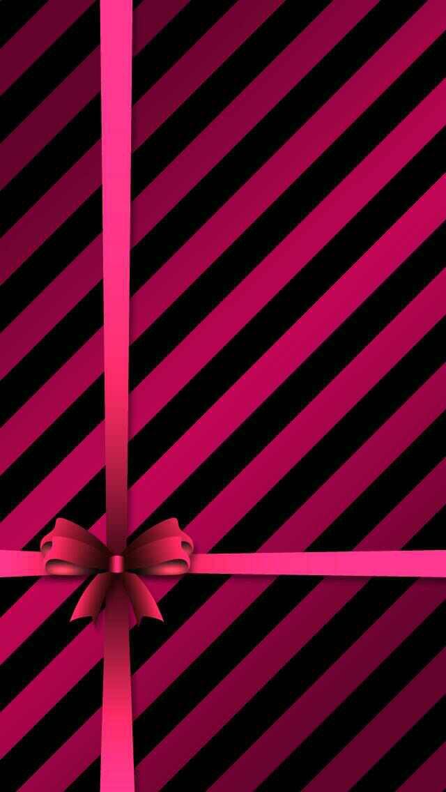 Pink And Black Diagonal Stripes Wallpaper