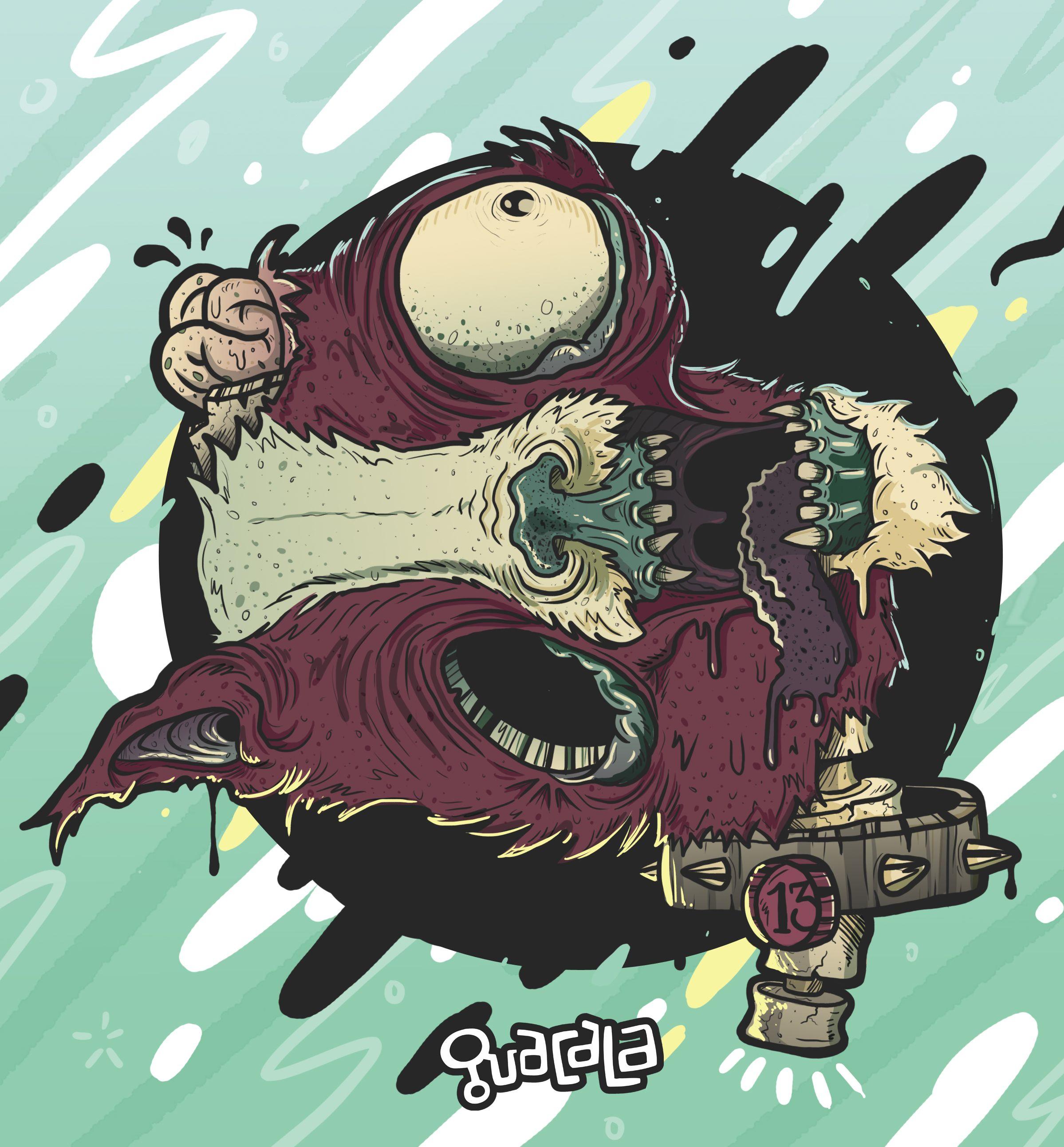 Zombie Cat ///  Illustration Guacala