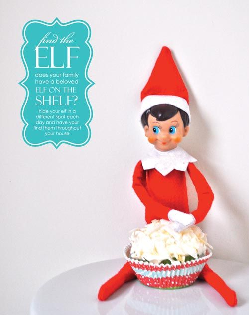Elf on the Shelf calendar with ideas
