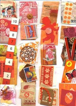 Orange Stuff - Collage
