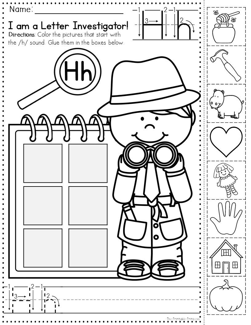 Letter Investigators Such A Cute Theme For Finding Beginning Sounds Love The Extra Ha Beginning Sounds Worksheets Kindergarten Learning Learning Worksheets