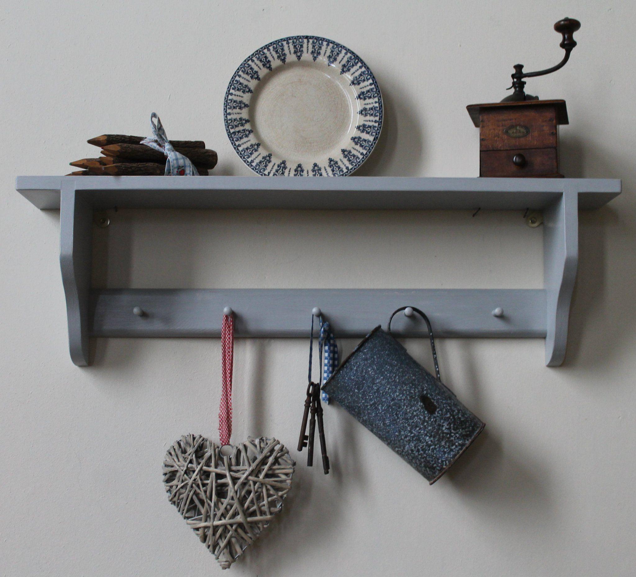 SHAKER 1 shelf with small pegs Shelves, Shabby chic, Shabby