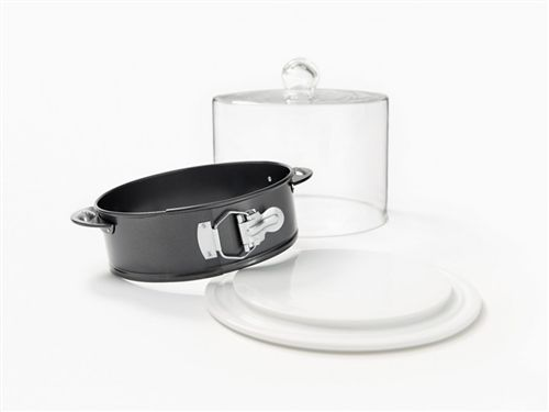Non Stick Springform With Ceramic Base And Glass Dome Must Have