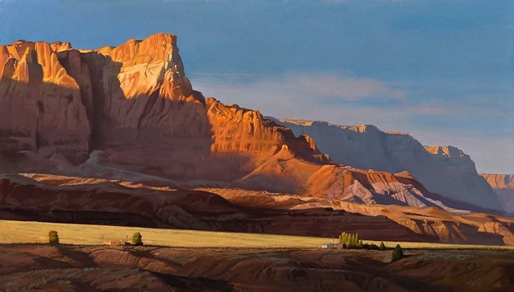Vermillion Cliffs I by Dennis Farris Oil ~ 18 x 36