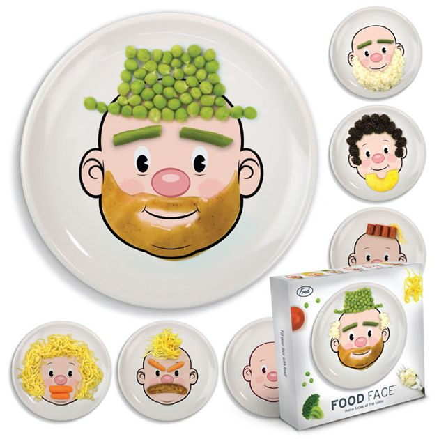 Food Face Dinner Plates: I can see myself enjoying this as well