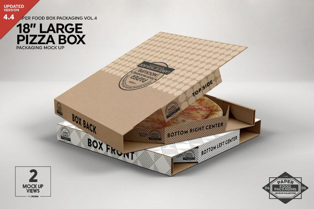 Large 18 Pizza Box Packaging Mockup Pizza Box Design Pizza Boxes Food Box Packaging