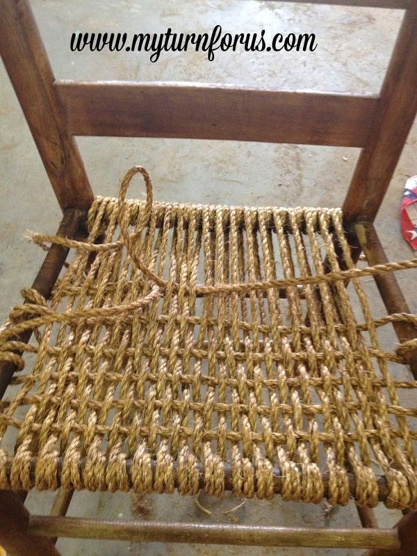 Rope Bottom Chair Small Swivel Or Hemp Revamped Woodworking Pinterest Bedroom Ideas Home Decor Painted Furniture