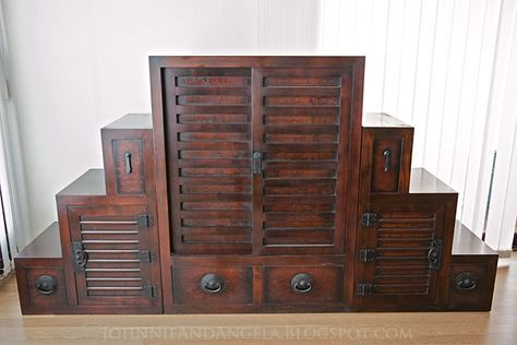 Stair Step Cabinet It S Officially Called A Anese Tansu Chest The Is Actually Made Up Of Three Pieces Front And Back